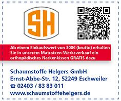 Gutschein Schaumstoffe Helgers GmbH CNC Schneidewerk